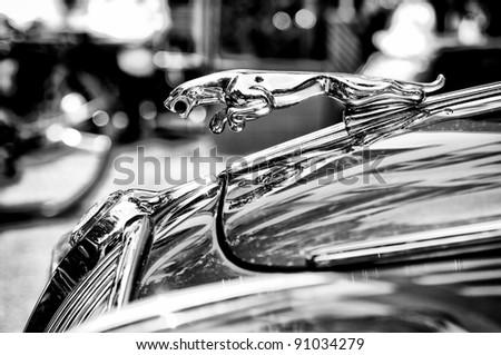 berlin may 28 the symbol car jaguar black and white the