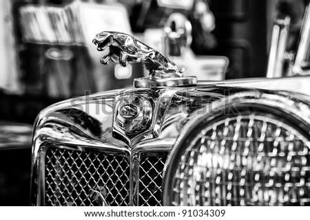 BERLIN   MAY 28: The Symbol Car Jaguar (Black And White), The