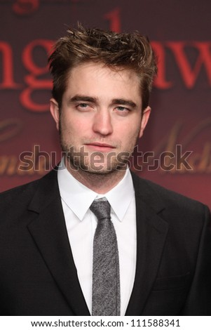 BERLIN - NOVEMBER 18: Robert Pattinson attends the Germany Premiere of 'The Twilight Saga: Breaking Dawn Part 1 on November 18, 2011 in Berlin, Germany. - stock photo