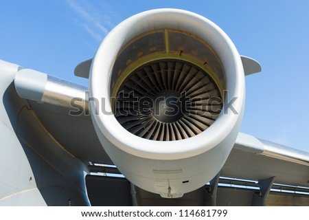 "BERLIN - SEPTEMBER 14: Engines Boeing C-17 Globemaster, International Aerospace Exhibition ""ILA Berlin Air Show"", September 14, 2012 in Berlin, Germany"