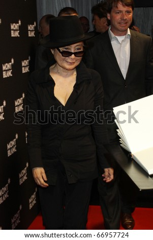 BERLIN - SEPTEMBER 12: Yoko Ono attends the Montblanc John Lennon Edition Pen Launch Party at the Spindler and Klatt. September 12, 2010 in Berlin, Germany