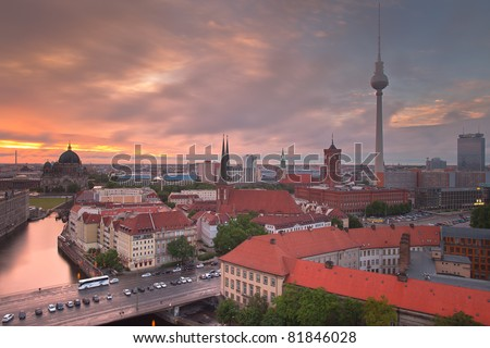 Berlin Skyline Dynamic City - stock photo