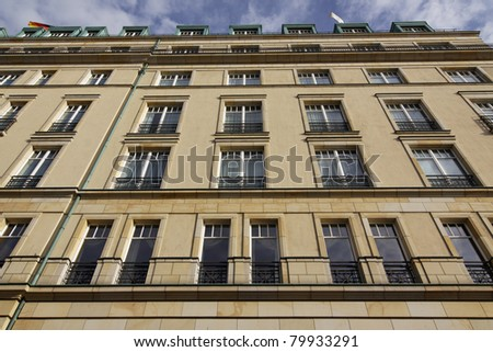 Berlin - the legendary Hotel Adlon - stock photo