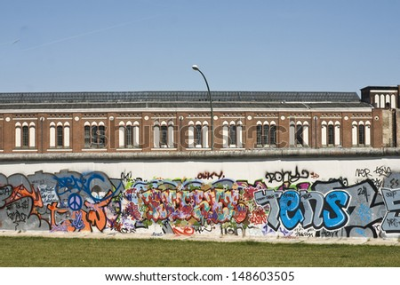 Berlin The Wall - stock photo