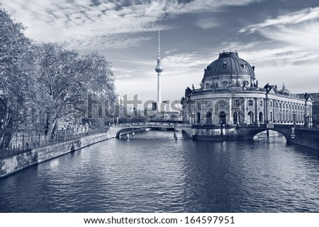 Berlin. Toned image of Museum Island in Berlin, Germany. - stock photo