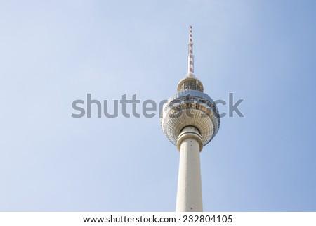 Berlin TV Tower (Berliner Fernsehturm) - stock photo