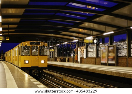 Berlin U-Bahn is the most extensive underground network  - stock photo