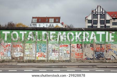 berlin wall remnants - stock photo