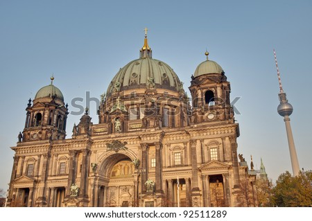 Berliner Dom (Berlin Cathedral) is a temple of the Evangelical Church in Berlin, Germany