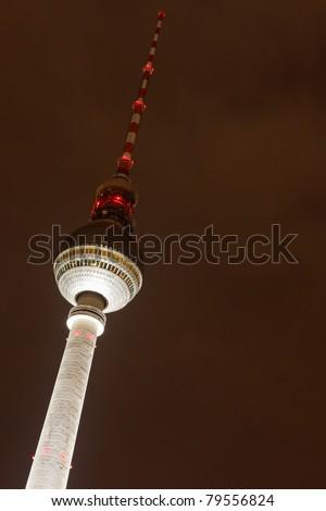 Berliner Fernsehturm (TV Tower), at Alexanderplatz in Berlin, Germany - stock photo