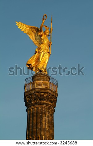 Berliner Siegessaeule - stock photo