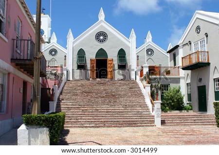 Bermuda Church - stock photo