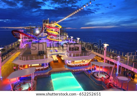 BERMUDA - MAY 29: Norwegian Breakaway is the largest cruise ship home-ported year-round from New York City, May 29, 2017.