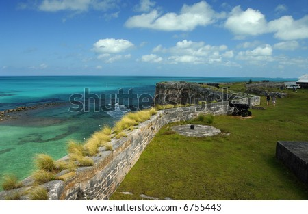Bermuda Royal Naval Dockyard Ramparts - stock photo