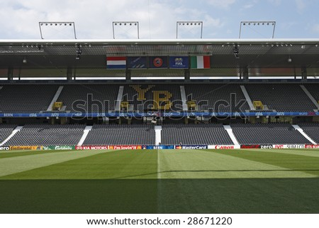 BERN, SWITZERLAND - JUNE 8:  General view of the Stade de Suisse June 8, 2008 in Bern, Switzerland, one day prior to the UEFA Euro 2008 match between Italy and the Netherlands.
