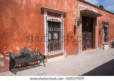 Bernal magic town  - stock photo