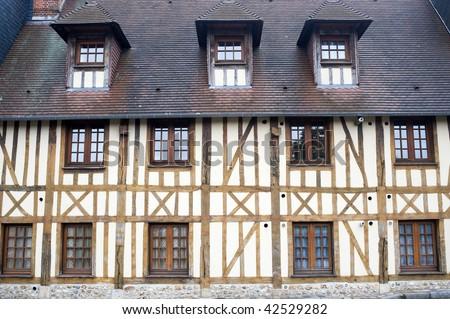 Bernay (Eure, Haute-Normandie, France) - Exterior of old half-timbered house