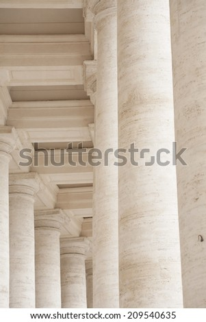 Bernini's colonnade in St. Peter's square - stock photo