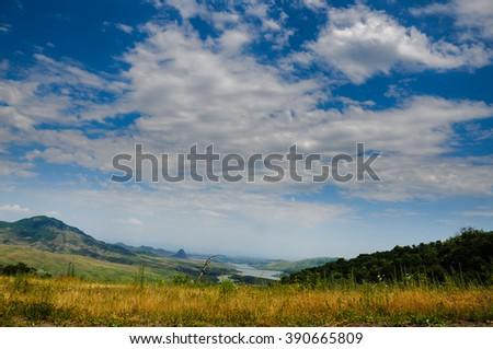 Berqaber reservoir, Tavush - stock photo