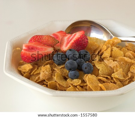 Berries and cereals - stock photo