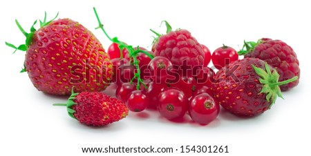 berries isolated on a white background