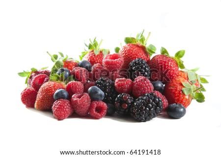 berries mix - stock photo