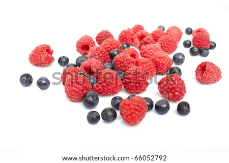 berries on white background - stock photo