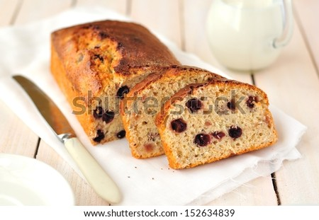 Berry and Oat Loaf Cake - stock photo
