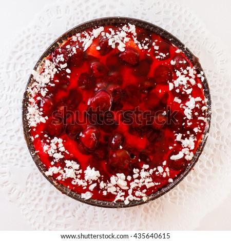 berry cake - stock photo