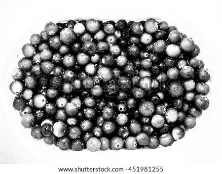 Berry Cranberry is in the box. Photographed close-up.  - stock photo