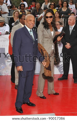 "Berry Gordy at the premiere of Michael Jackson's ""This Is It"" at the Nokia Theatre, L.A. Live in downtown Los Angeles. October 27, 2009  Los Angeles, CA Picture: Paul Smith / Featureflash"