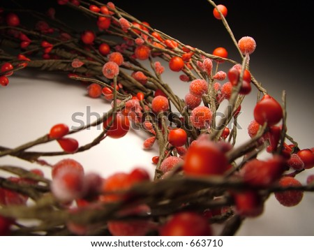 Berry Wreath - stock photo