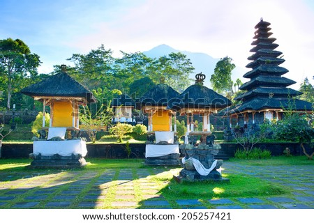 Besakih complex Pura Penataran Agung , Bali, Indonesia  - stock photo