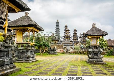 besakih temple, bali - stock photo