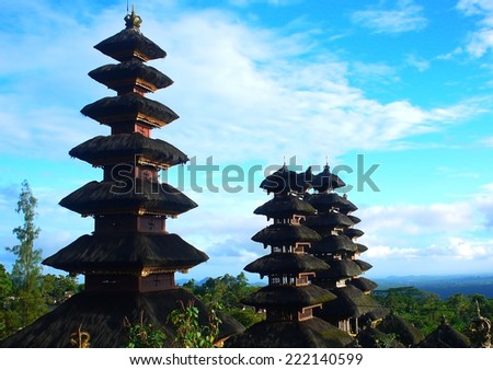 Besakih Temple in Bali. This could be use to promote the place. - stock photo