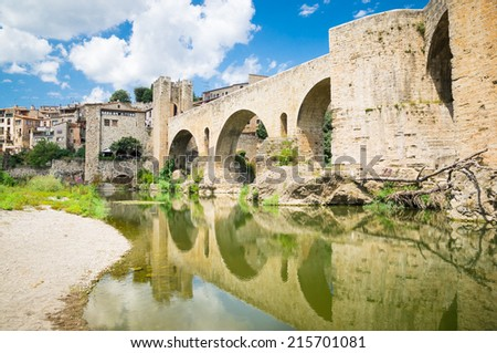 Besalu in Girona, Catalonia, Spain - stock photo