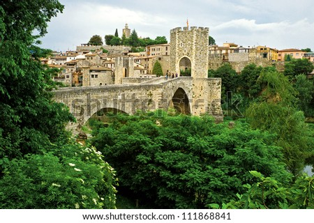 Besalu medieval village, Catalonia, Spain