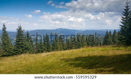 Beskidy mountains view.
