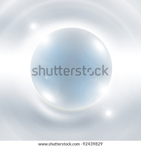 Best Abstract Glass Glossy Sphere Background - stock photo