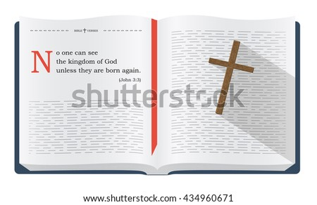 Best Bible verses to remember - John 3:3 saying about how we can see the kingdom of God - stock photo
