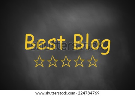 best blog black chalkboard - stock photo