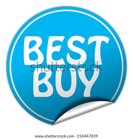 best buy blue sticker - stock photo
