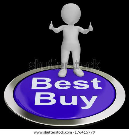 Best Buy Button Showing Quality Product Or Service - stock photo