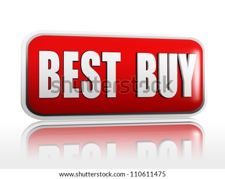 best buy red banner with white letters - stock photo