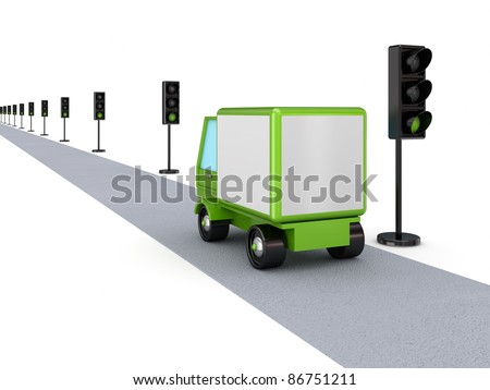Best cargo concept.Isolated on white background. - stock photo
