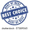 Best choice - stock vector