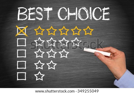 Best Choice - five golden stars - stock photo