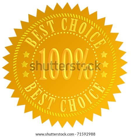 Best choice guarantee seal - stock photo