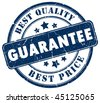 Best choice guarantee stamp - stock photo