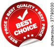 Best choice guarantee sticker - stock photo